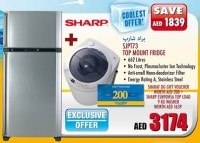 Sharp Top Mount Fridge