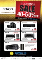 Denon and Marantz  Home Theaters System Deal at Sharaf DG