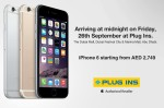 iPhone 6  Availablel at Plug Ins Today at Midnight