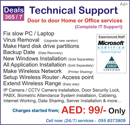 Laptop repair fix services in Dubai