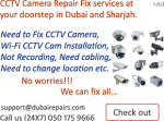Wireless CCTV Camera Repair Fix Services in Sharjah