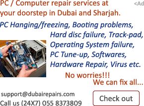 PC Computer Repair Fix Services in Sharjah