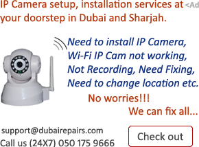 IP Camera Installation Repair Dubai