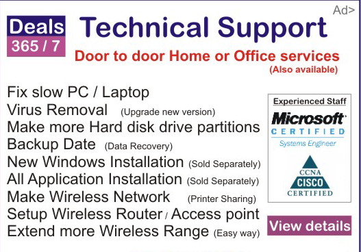 Technical support for Laptop
