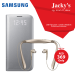 Samsung Galaxy S7 Edge LED Flip Cover & Level U Headset Offer at Jacky's