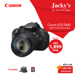 Canon EOS 700D Camera Awesome Offer at Jacky's