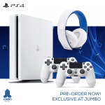 Pre Order Sony PS4 Slim 500GB White Bundle Offer at Jumbo Online