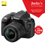 Nikon D3300 DSLR Camera Offer at Jacky's