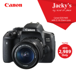 Canon EOS 750  DSLR Camera Offer at Jacky's