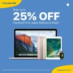 Apple MacBooks, iPads up to 25% Discount Offer at Plug Ins Online Store