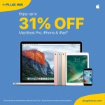 Apple MacBook, iPhone & iPad Discount Offers at Plug Ins Online Store