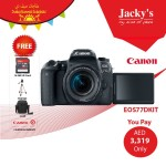 Canon EOS 77D DSLR Camera Offer at Jacky's