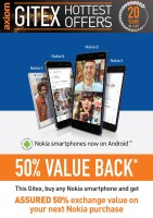 Nokia Smartphone 50% Value Back Gitex Offer at Axiom