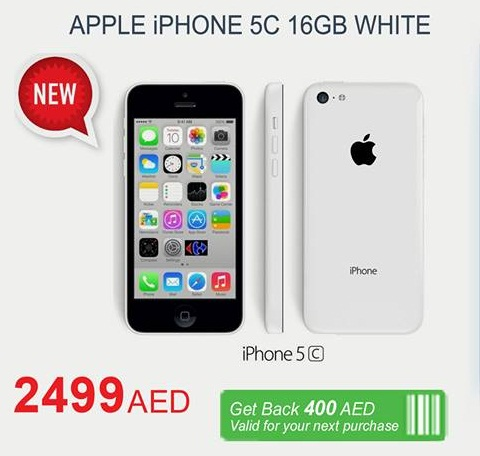 iPhone 5C Offer at Carrefour -