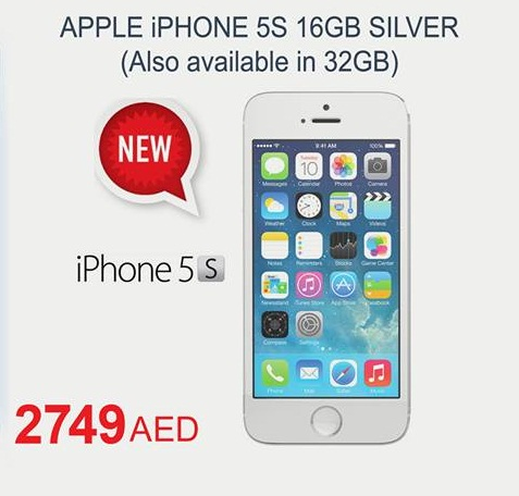 Apple iPhone 5S Available at Carrefour -