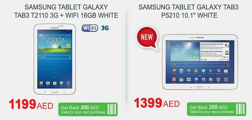 Samsung Tablets Deal at Carrefour -