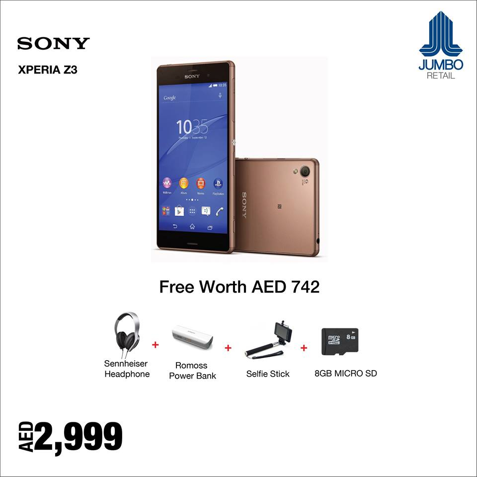 Sony Xperia Z3 Smartphone Best Offer at Jumbo -