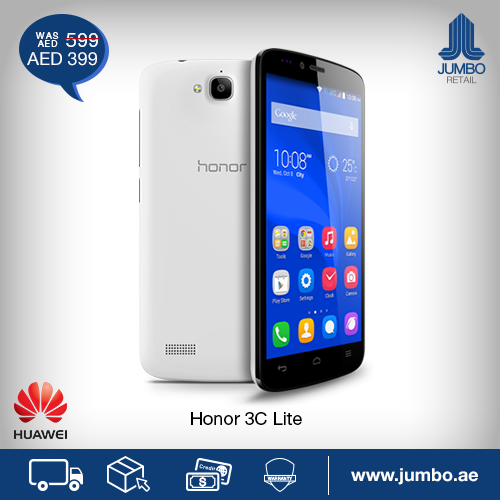 Huawei Honor 3C Lite Smartphone Best Offer at Jumbo -