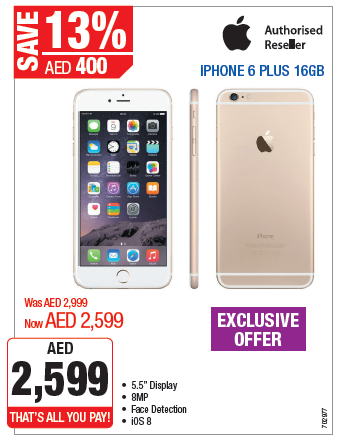 iPhone 6 Plus 16GB Exclusive Offer at Plug Ins -