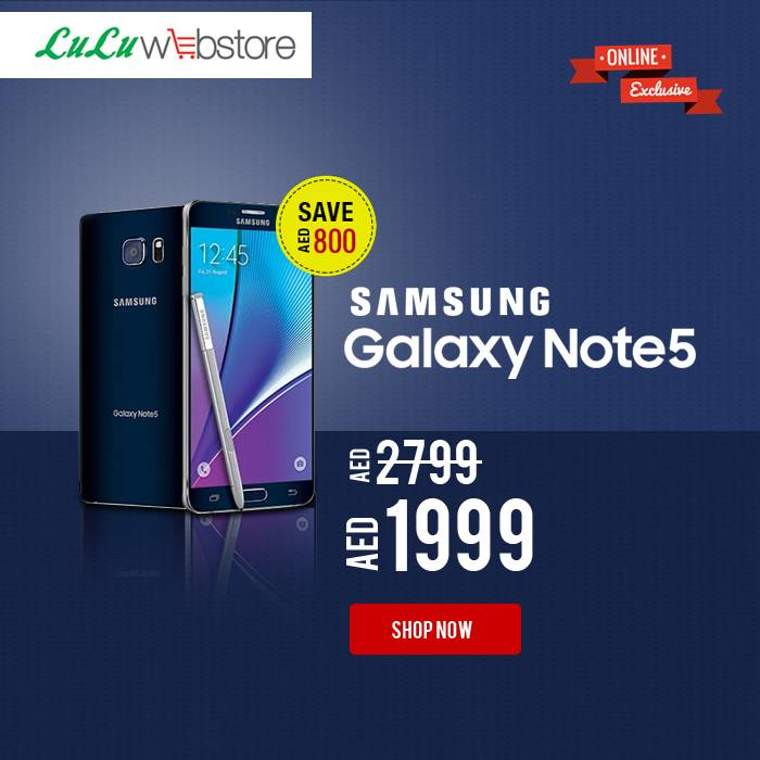 Samsung Galaxy Note 5 Crazy Offer at LuLu -