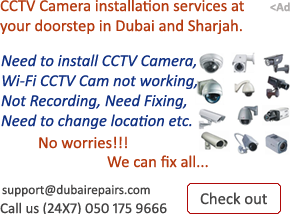 CCTV Camera Installation Dubai