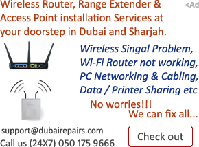 Wireless Router Installation Dubai