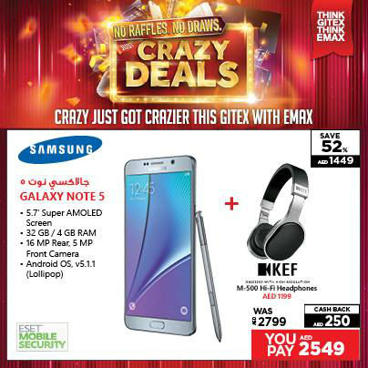 Samsung Galaxy Note 5 Awesome Offer at Emax -
