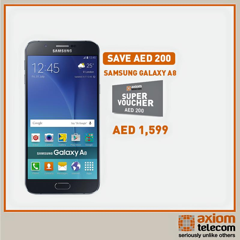Samsung A8 Smartphone Amazing Offer at Axiom -