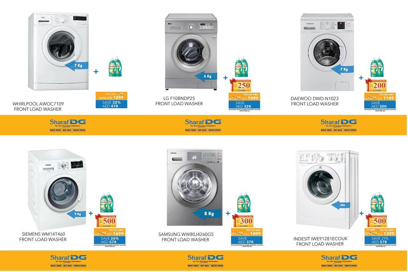 Washing Machines Great Offers at Sharaf DG -