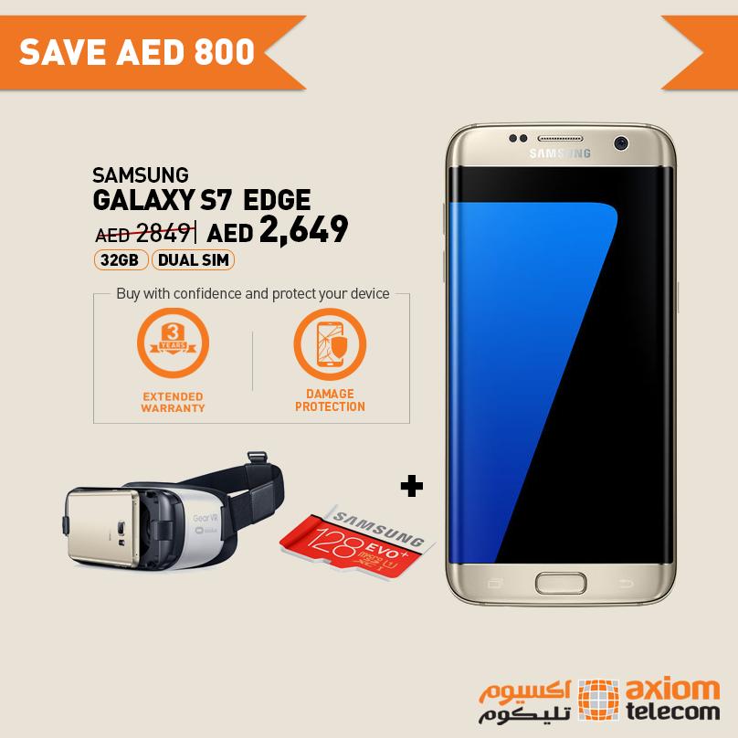 Samsung Galaxy S7 Edge 32GB Smartphone Offer at Axiom -