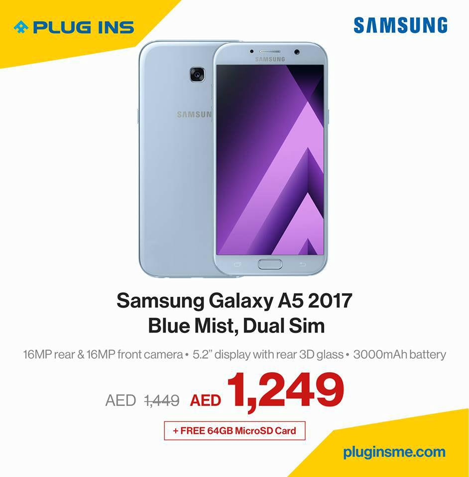 Samsung Galaxy A5 Smartphone Offer at Plug Ins